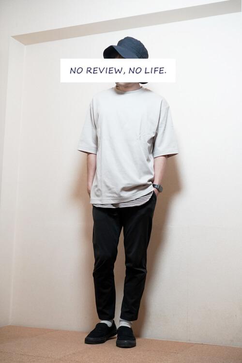 ユニクロユー2021春夏のエアリズムオーバーサイズクルーネックTシャツのコーディネート