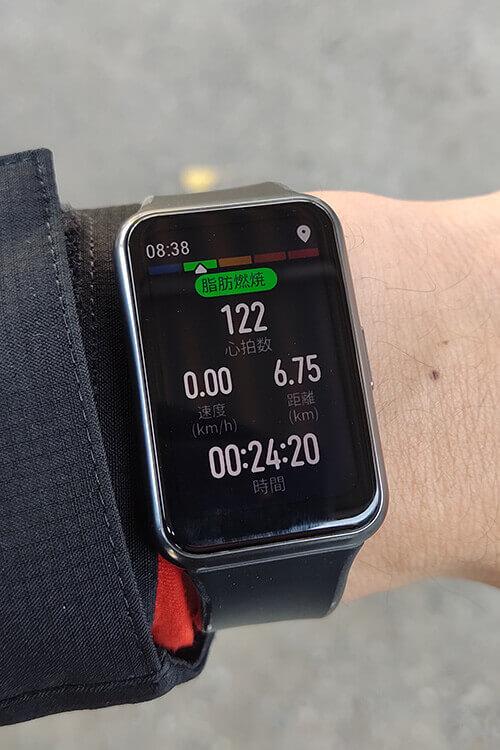 HUAWEI WATCH FITの屋外サイクリングモード リアルタイムの記録