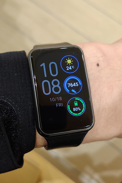 HUAWEI WATCH FITの文字盤 デジタル詳細設定